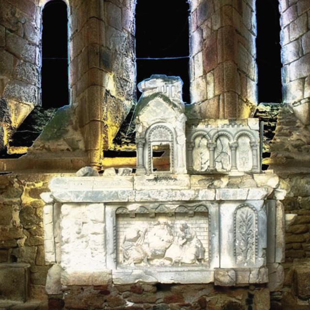 """The Church at Oradour"" stock image"