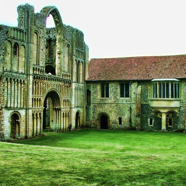 """Castle Acre Priory"" stock image"