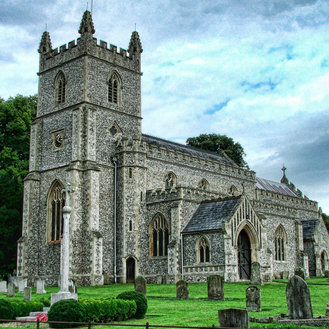 """St Mary East Raynham"" stock image"