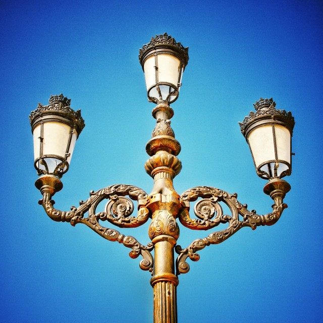 """Ornate lamp post"" stock image"