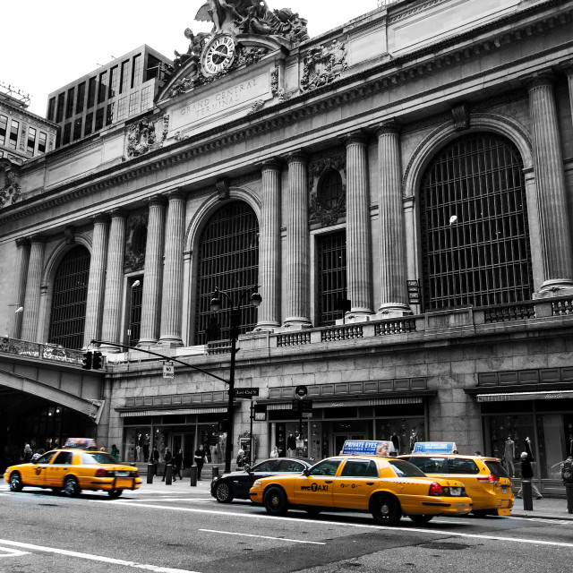 """Grand Central/Yellow Cab"" stock image"