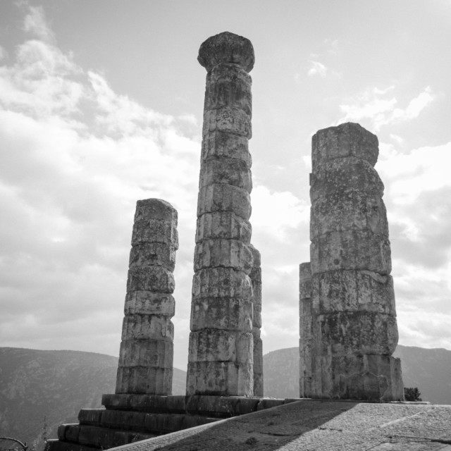 """Ancient Ruins in Delphi"" stock image"