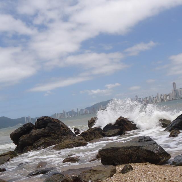 """Beach Camboriu/SC"" stock image"