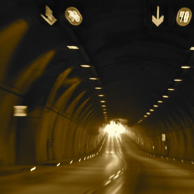 """Of Tunnels and Lights"" stock image"