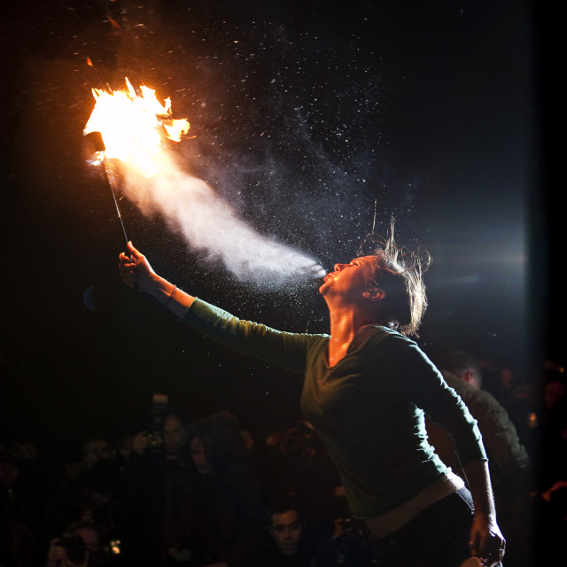 """""""Fire Breather"""" stock image"""