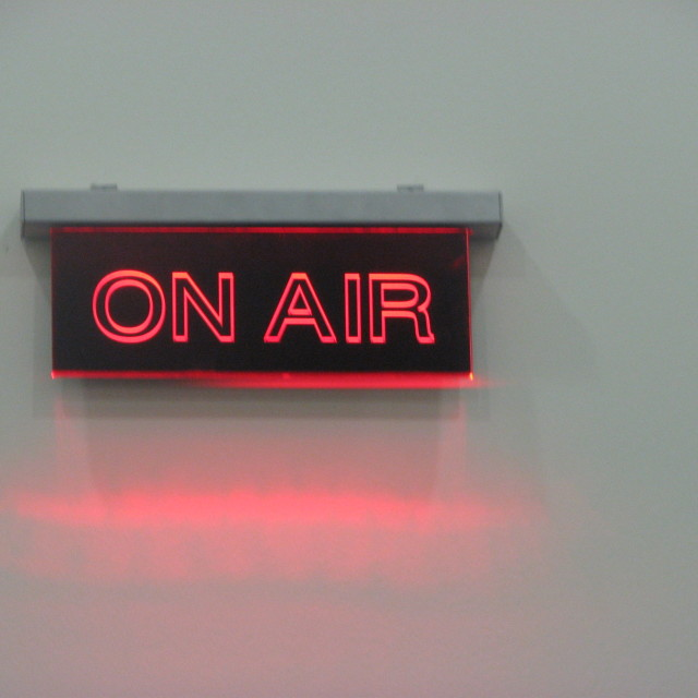 """On Air"" stock image"
