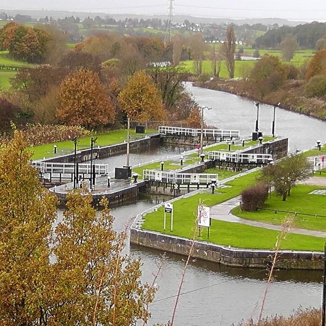 """Autumn at Saltersford Locks in Cheshire"" stock image"