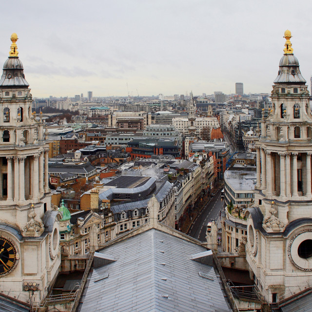 """View from St Pauls"" stock image"