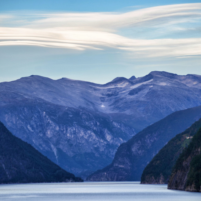"""""""Mountains & clouds"""" stock image"""