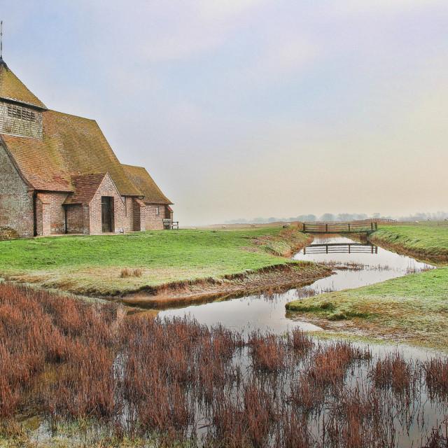 """St Thomas Becket Fairfield"" stock image"