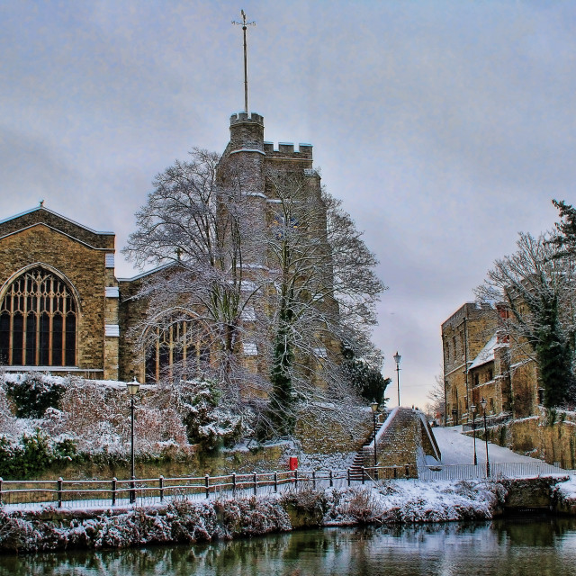 """All Saints In Winter"" stock image"