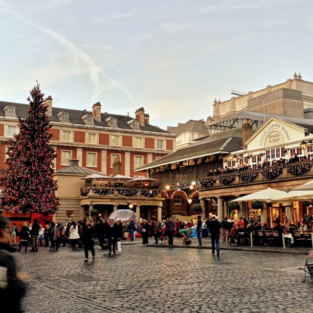 """Covent Garden at Christmas"" stock image"