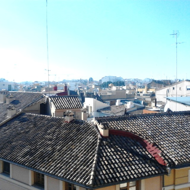 """""""The rooftops of Valencia"""" stock image"""