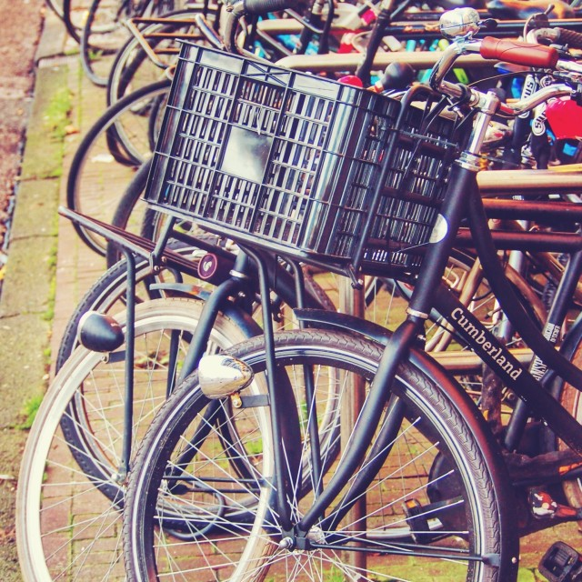 """Bikes of Amsterdam"" stock image"
