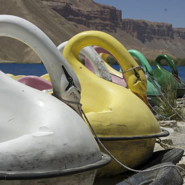 """Swan Lake - Afghanistan"" stock image"