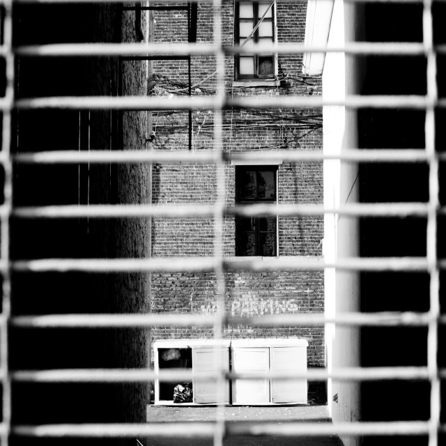 """Behind bars"" stock image"