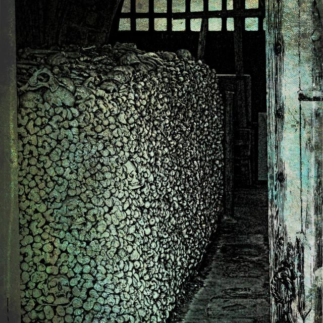 """""""Ossuary Hythe"""" stock image"""