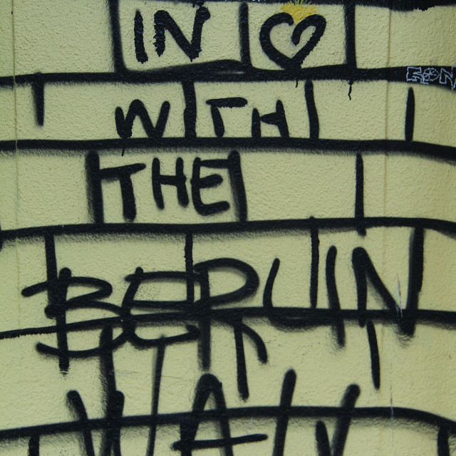 """In Love With The Berlin Wall"" stock image"