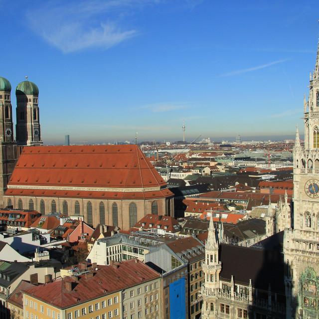 """""""Munich Skyline"""" stock image"""