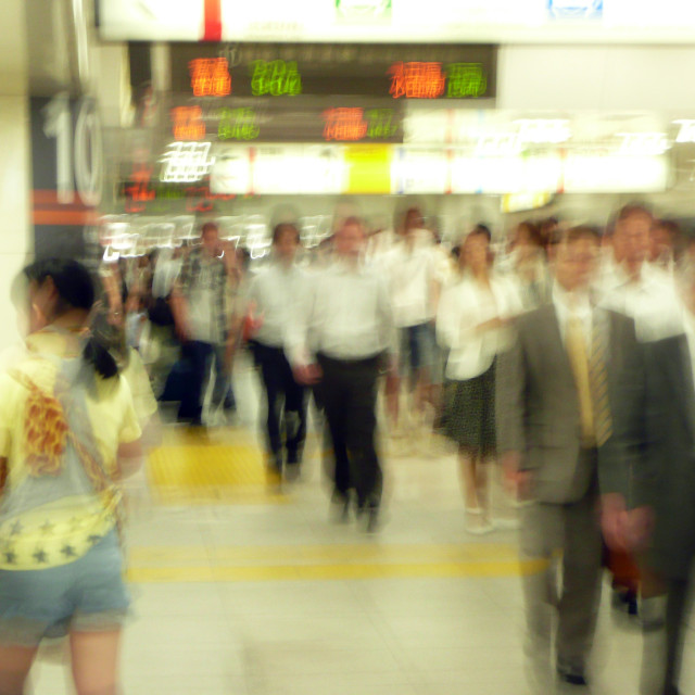 """""""Rush hour commuters"""" stock image"""