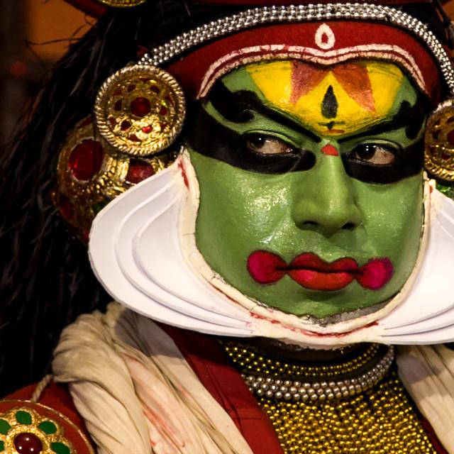 """Kathakali Dancer"" stock image"
