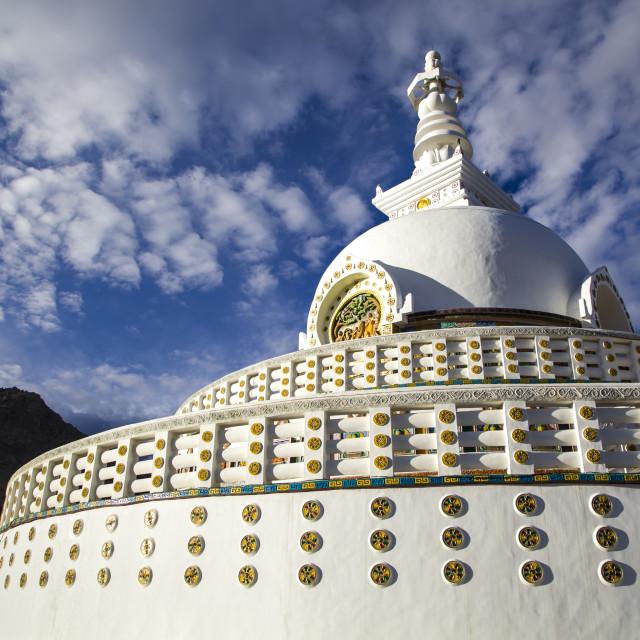 """""""Shanti Stupa"""" stock image"""