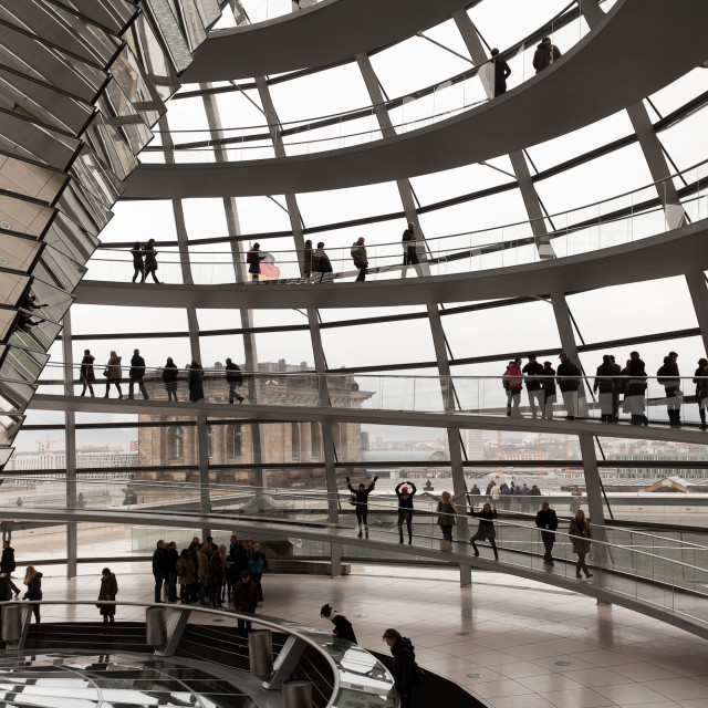 """Dancing in the Reichstag"" stock image"
