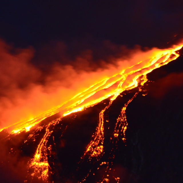 """Lava Flow"" stock image"