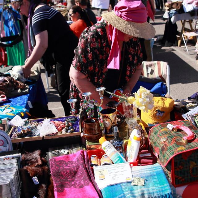 """Flea market"" stock image"