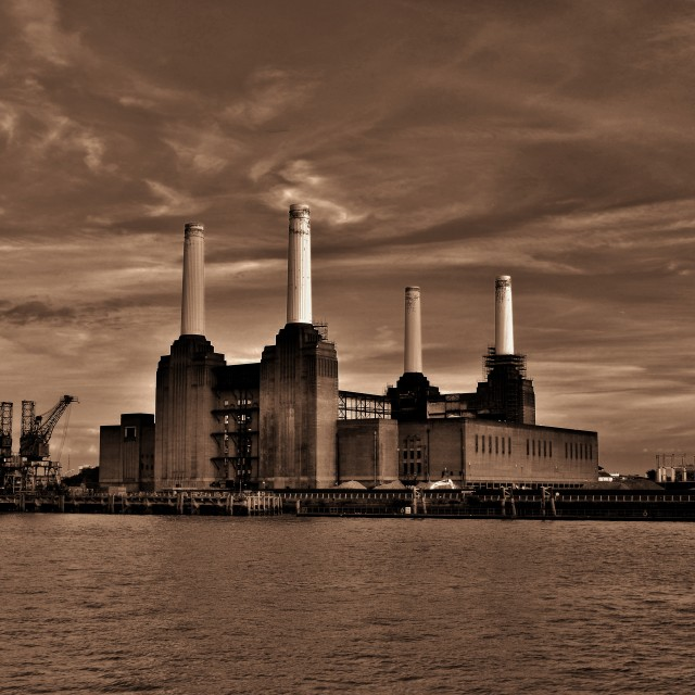 """Battersea powerstation"" stock image"