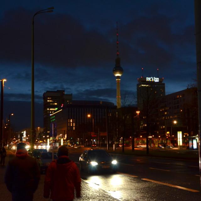 """Berlin by night"" stock image"