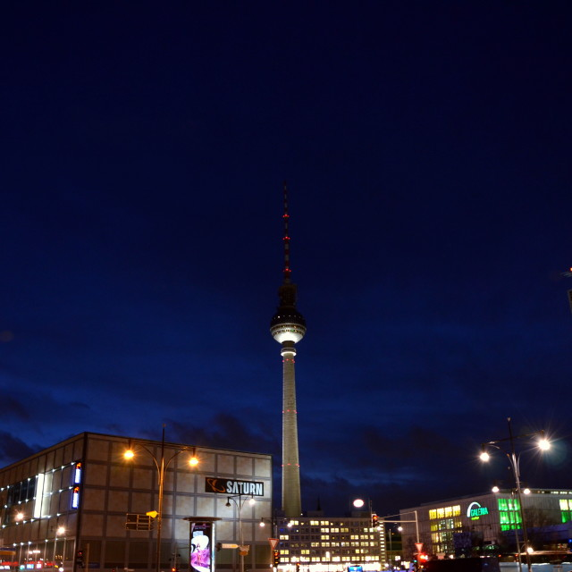 """Berlin by night - Alexander Platz"" stock image"