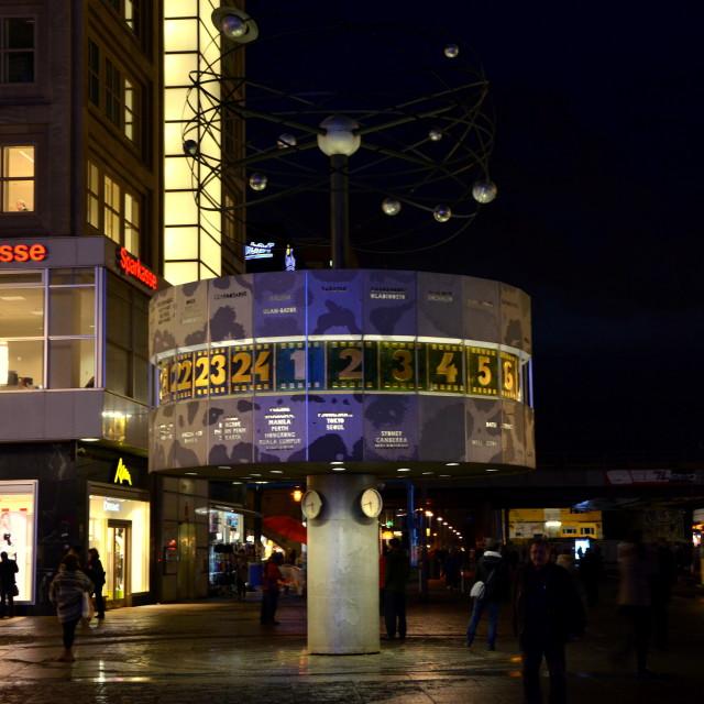 """Berlin : World Time Clock"" stock image"