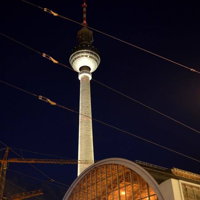 """Berlin by night : Fernsehturm"" stock image"
