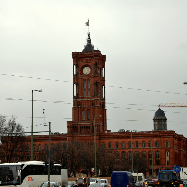 """Berlin : Rotes Rathaus"" stock image"