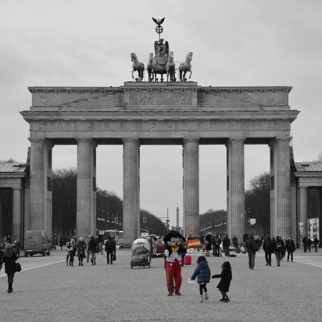 """Mickey Mouse in Berlin"" stock image"