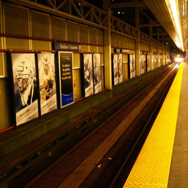 """""""Waiting on the Platform"""" stock image"""