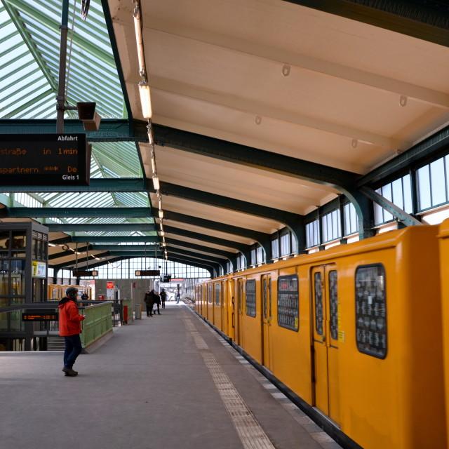 """Gleisdreieck U-bahn Station 2"" stock image"