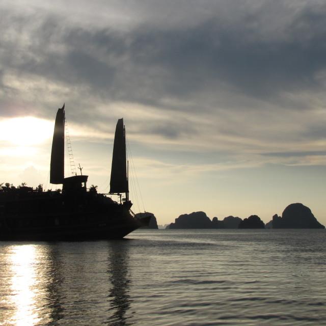 """Ha Long Bay Sunset"" stock image"