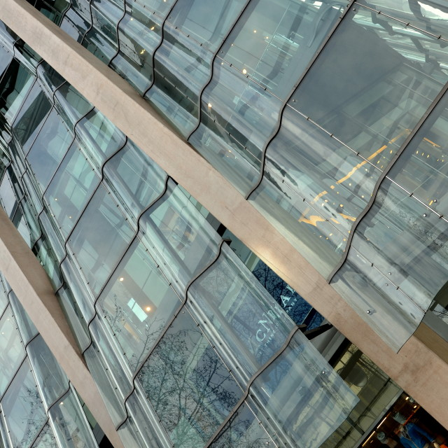"""""""Berliner Glass Wall"""" stock image"""