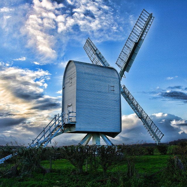 """Chillenden Windmill"" stock image"
