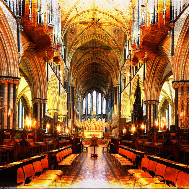 """Worcester Cathedral"" stock image"
