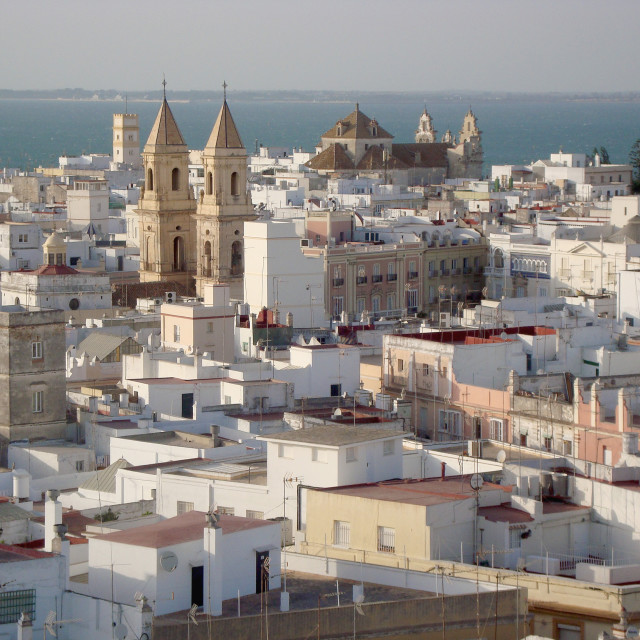 """Sunset in Cadiz"" stock image"