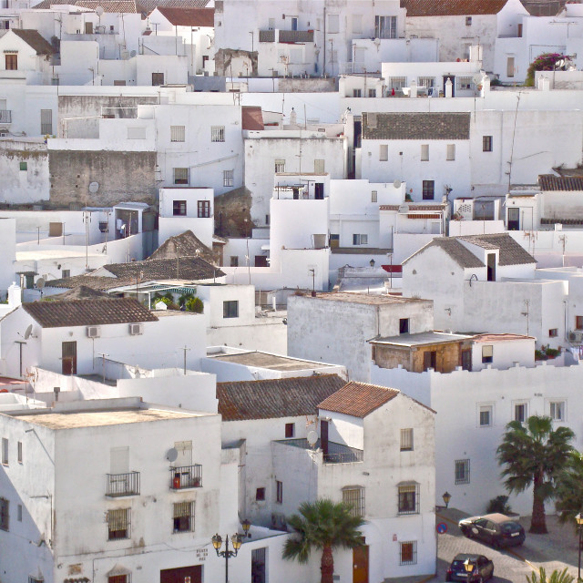 """White houses in Spain"" stock image"