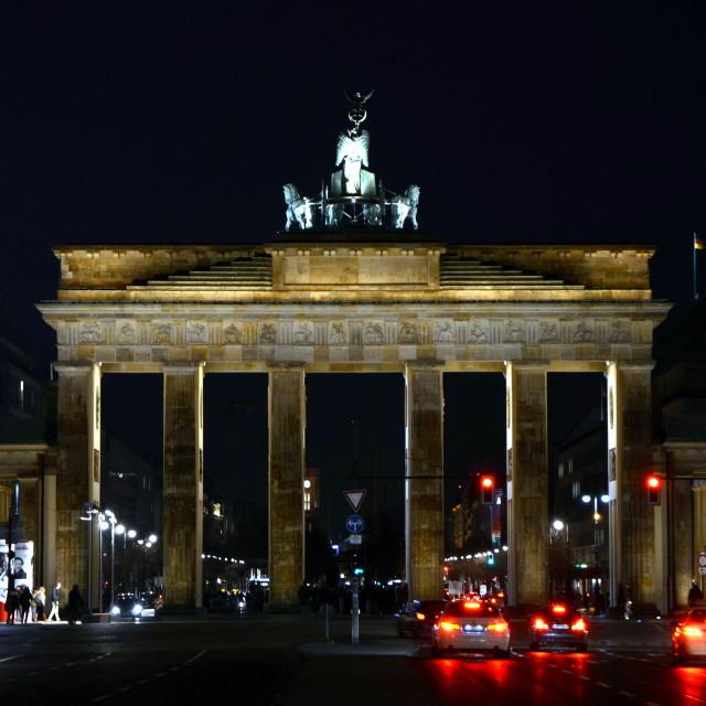 """Brandenburger Tor by Night 1"" stock image"