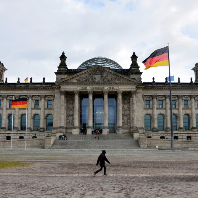 """""""Berlin : Reichstag"""" stock image"""