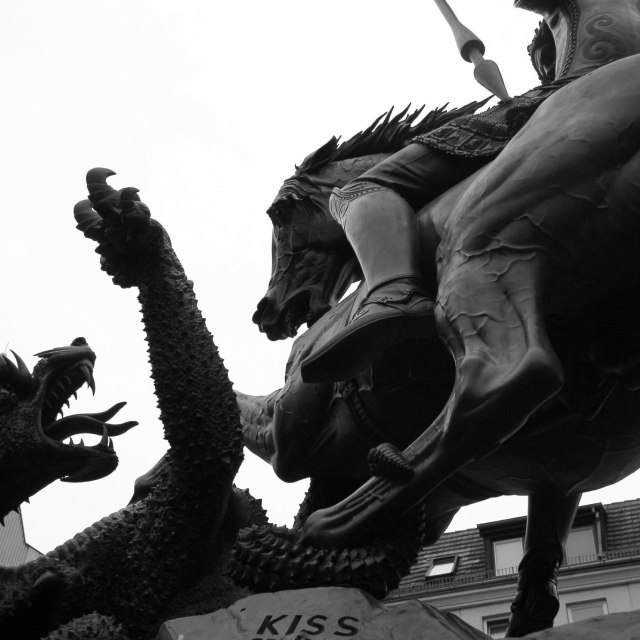 """""""Saint George and the Dragon"""" stock image"""
