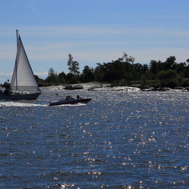 """""""Sailboat in summer"""" stock image"""