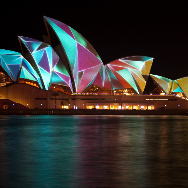 """Sydney Opera House Vivid Festival Projections"" stock image"