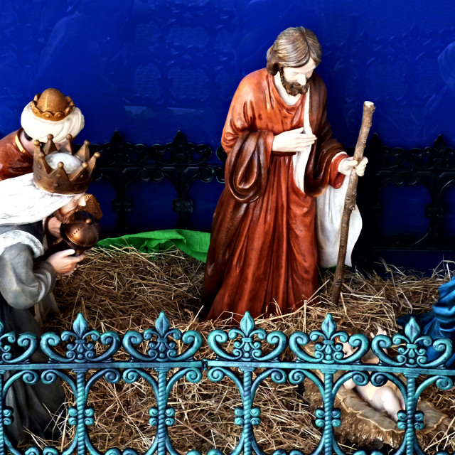 """Nativity tableau"" stock image"